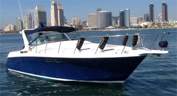 Antonina motor yacht on San Diego Bay