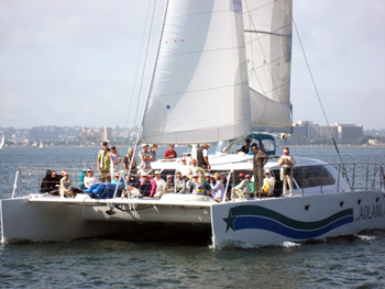 Aolani Catamaran Sailboat in San Diego