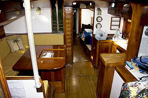 Jada yacht galley and dinette