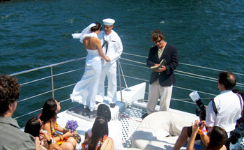 Wedding at Sea aboard the Aolani