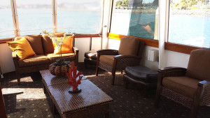 upper salon on inspiration yacht charter