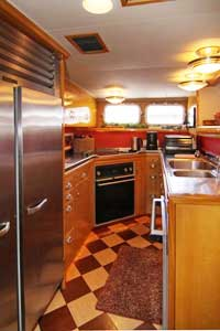 The galley of the Voyager private fishing yacht