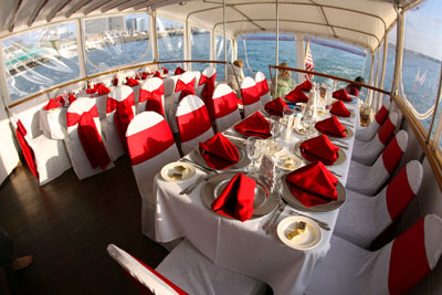Renown yacht celebration set up