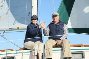 Wine tasting aboard Lei Lani sailboat
