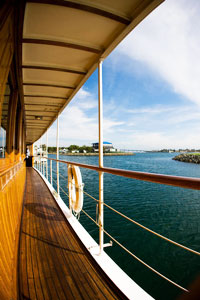High Spirits yacht walkway