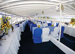 High Spirits Yacht upper deck