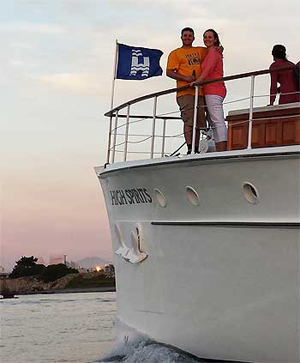 Sunset cruise on High Spirits yacht