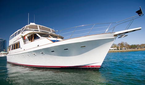 Quiet Heart power yacht by Flagship Cruises
