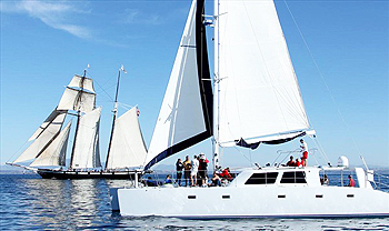 company outing on Adventuress yacht