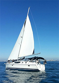 Marinella yacht sailing on San Diego Bay