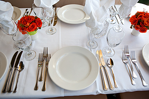 Emerald place setting