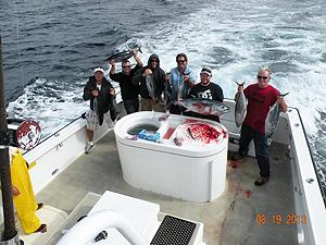 Guys gone fishing on Joanna sport fishing charter