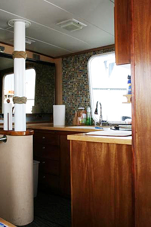galley on Joanna fishing boat
