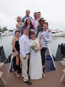 wedding aboard the Bella Luna Yacht
