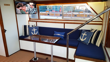 starboard side of the salon